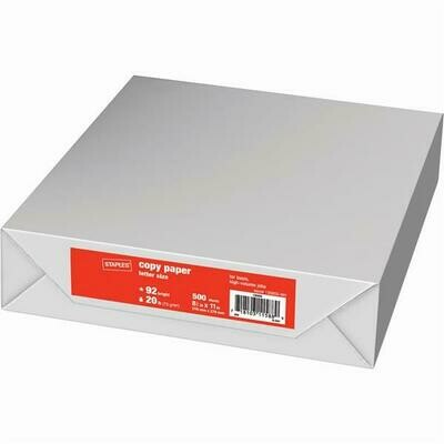 Pack of white 20lbs 8.5x11 Paper 500 sheets