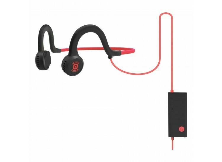 Aftershokz Sportz Titanium Wired Headphone w/Mic Red