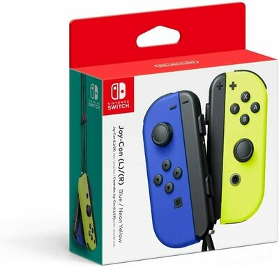 Nintendo Switch Joy-Con Left & Right Controllers, Blue/Neon Yellow