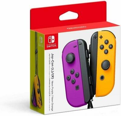 Nintendo Switch Joy-Con Left & Right Controllers, Neon Purple/Neon Orange