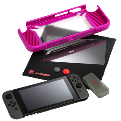 SNAKEBYTE (Nintendo Switch) Tough Kit - Strawberry Pink