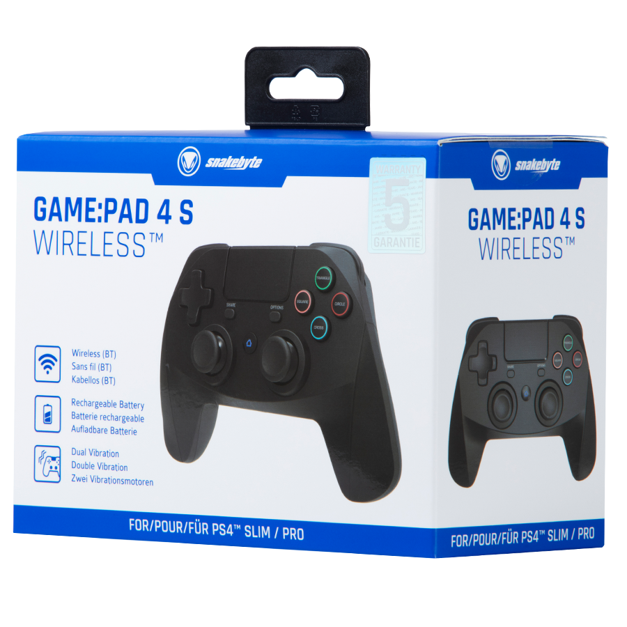 SNAKEBYTE (PS4) Wireless Controller - Black