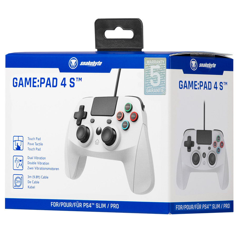 SNAKEBYTE  PS4 GAME:PAD 4 S Wired Controller - Grey