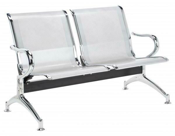 Tandem Monaco 2 Puestos en Metal Color Aluminio