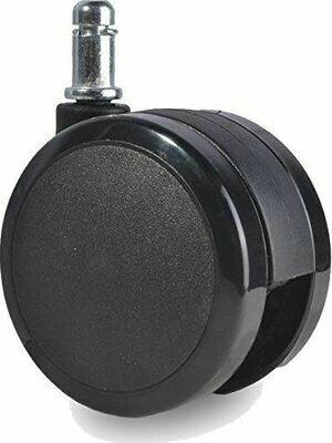 Ruedas en Goma 65MM en Color Negro Juego X5