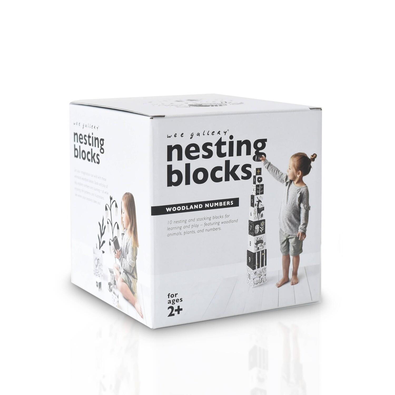 Nesting Blocks - Woodland Numbers