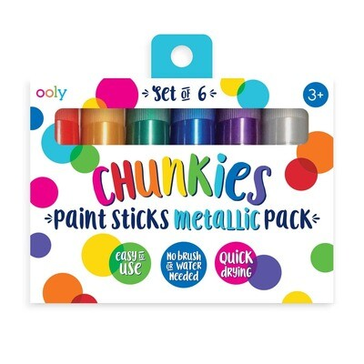 Chunkies Paint Sticks Metallic - Set of 6