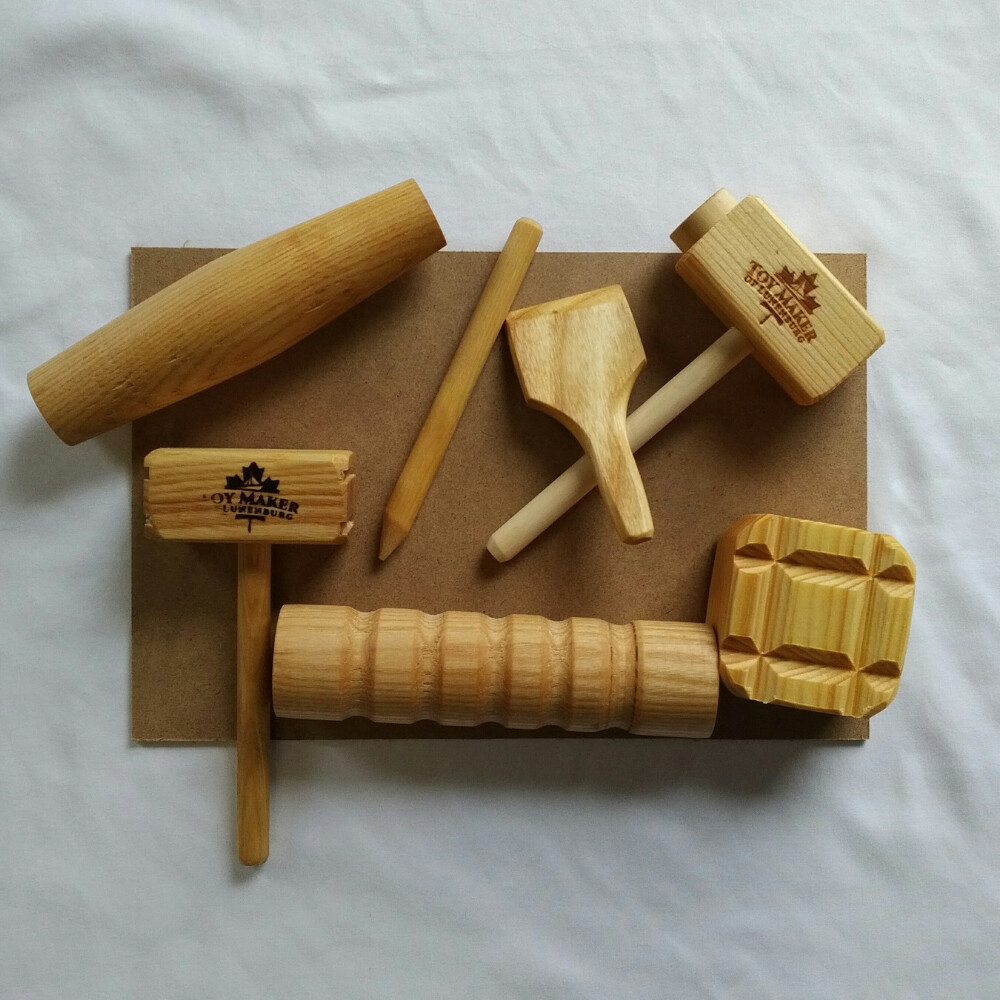 Play Dough Wooden Tools Set with Mats