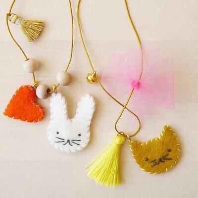 Animal Felt Charm Necklace Kit