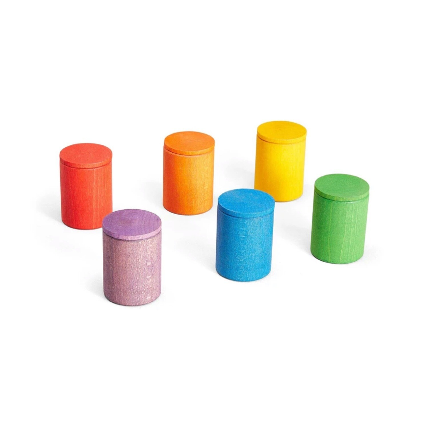 Grapat Colored Wooden Sorting Cups with Lids