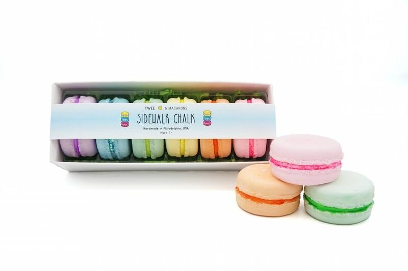Twee Petit Macaron Sidewalk Chalk Set