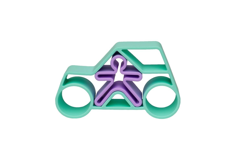 Pastel Car & Kid - Green