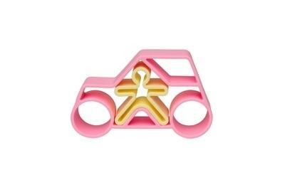 Pastel Car & Kid - Pink