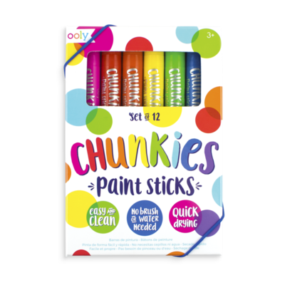 Chunkies Rainbow Paint Sticks - Set of 12