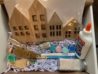 Holiday Winter Village Art Wonder Kit
