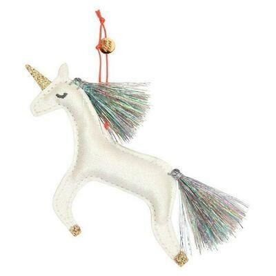 Meri Meri Unicorn Glitter Fabric Tree Decoration