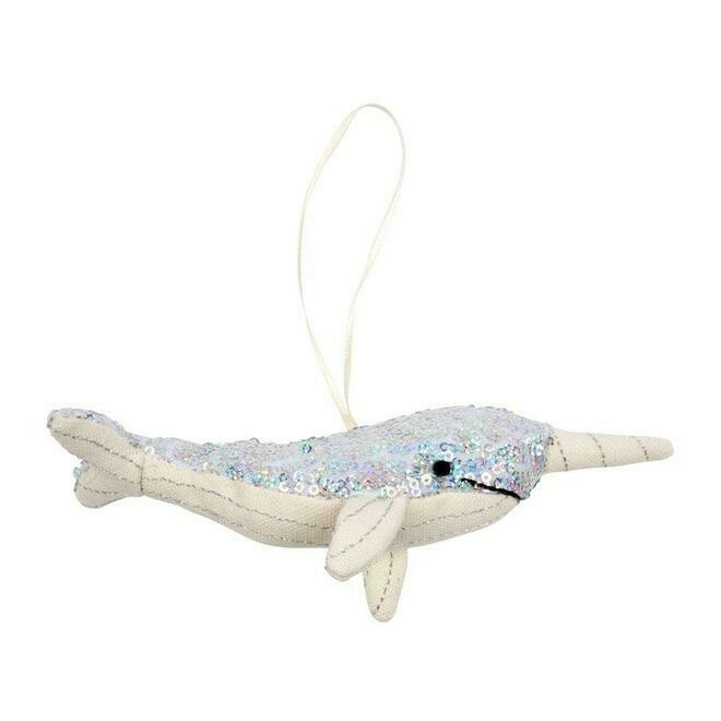 Meri Meri Sequin Narwhal Tree Decoration