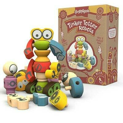 Begin Again Toys Tinker Totter Robot Character Set