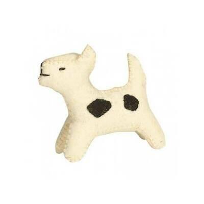 Glückskäfer Wool Felt Animals - White Dog