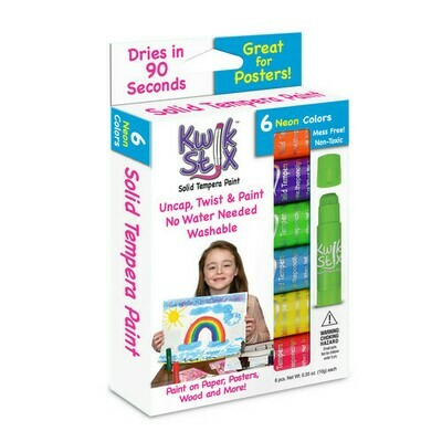 Kwikstix Tempera Paint - 6 Neon Colors