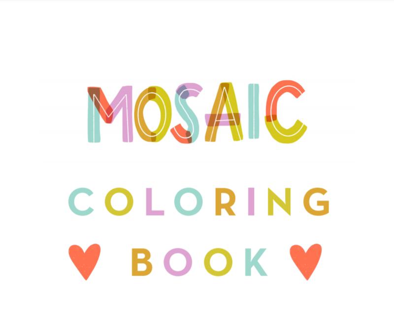 Mosaic: Celebrating Diversity Coloring Book