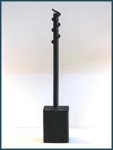 4x4 twist holder ground socket for a 4x4 wooden post