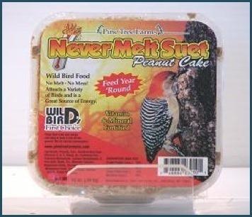 Never-melt peanut suet cake 13 oz.
