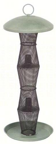 Tiered  mesh finch feeder