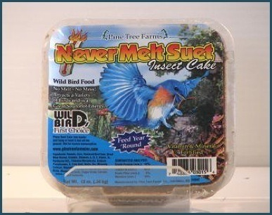 Never-melt insect suet cake 13oz.