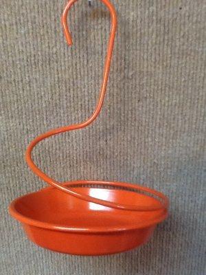 Orange spiral jelly feeder