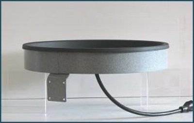 Birdbath heater deck-mount