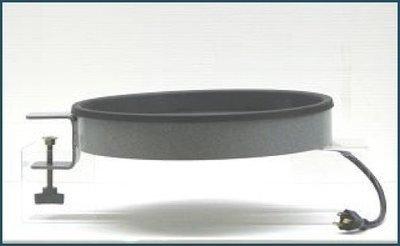 Birdbath heater with clamp-mount