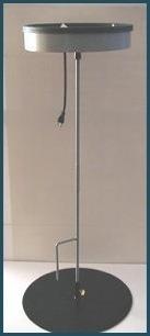 Birdbath heater pole-mount