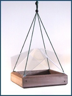 9x9 clear tray cover for 9x9 hanging tray feeder