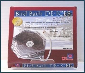 B-9 birdbath  de-icer