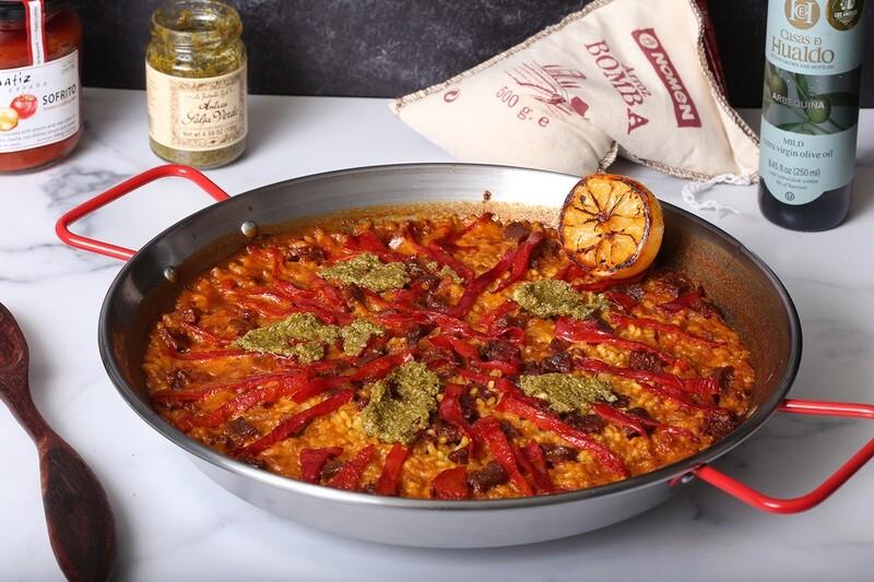 Cooking Class & Kit: Paella de Chorizo y Piquillos