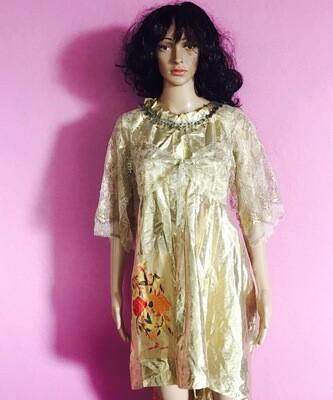 Gold Dress Lace Dress