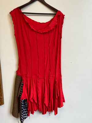 Red Cotton Dress Size Large