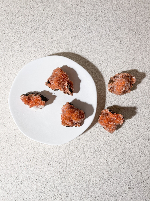 Orange Heulandite Cluster