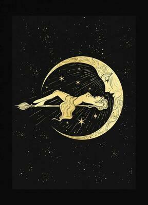 Moonbathing - A3 Art Print