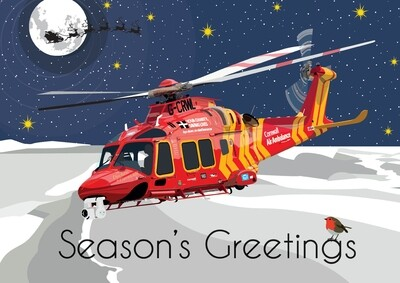 Cornwall Air Ambulance Seasons Greetings Card Pack (x10)