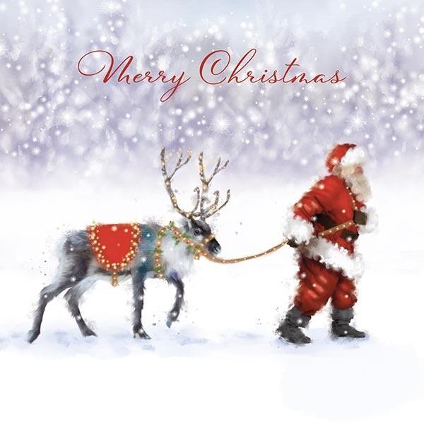 Santa & Reindeer x 10