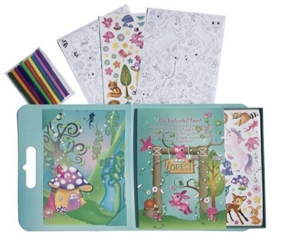 Pop It Up! Enchanted Forest Sticker And Colouring Set