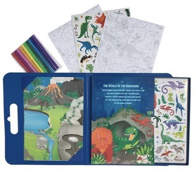 Pop It Up! Dino Colouring And Sticker Set