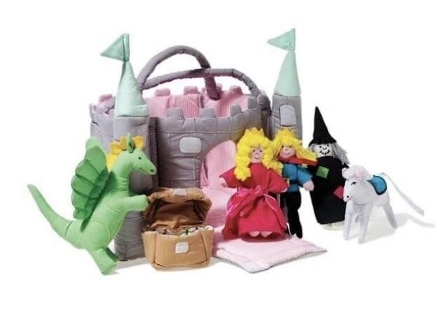 Oskar&Ellen Green Castle Play Bag