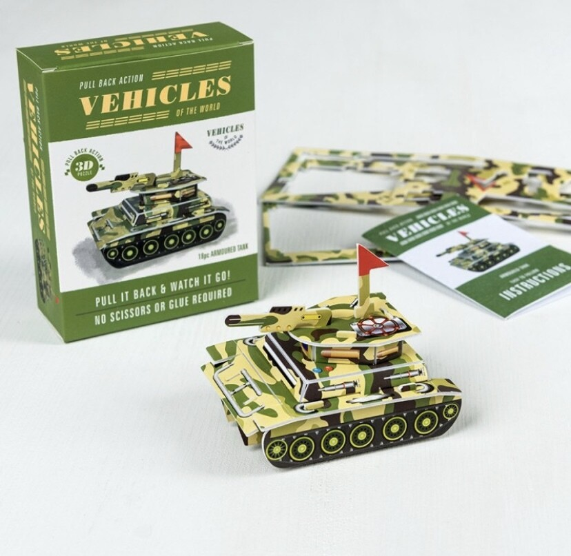 Pull Back Action Vehicle- 3D Puzzle