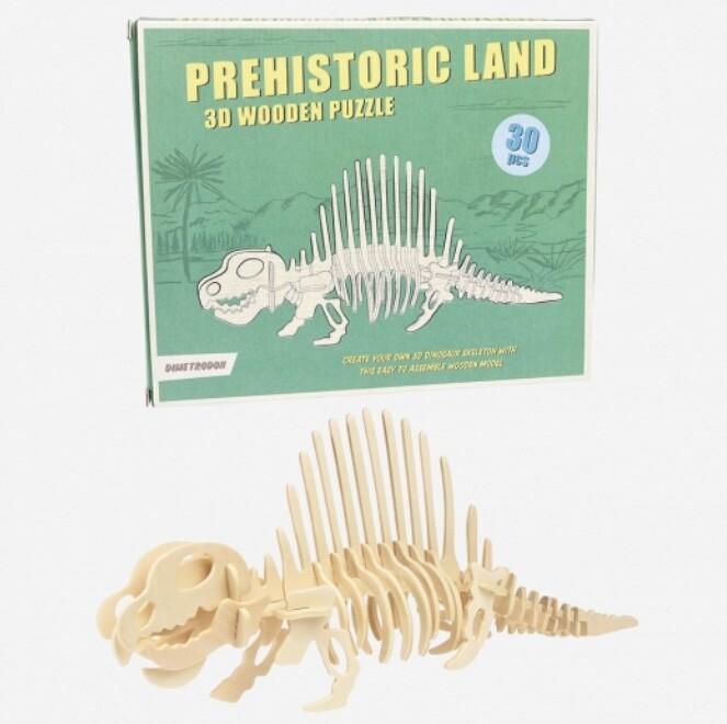Dimetrodon Dinosaur 3d Wooden Puzzle