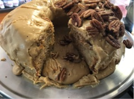 Jam Cake with Caramel Icing (8 inch)