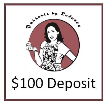 $100 Wedding/Large Event Deposit