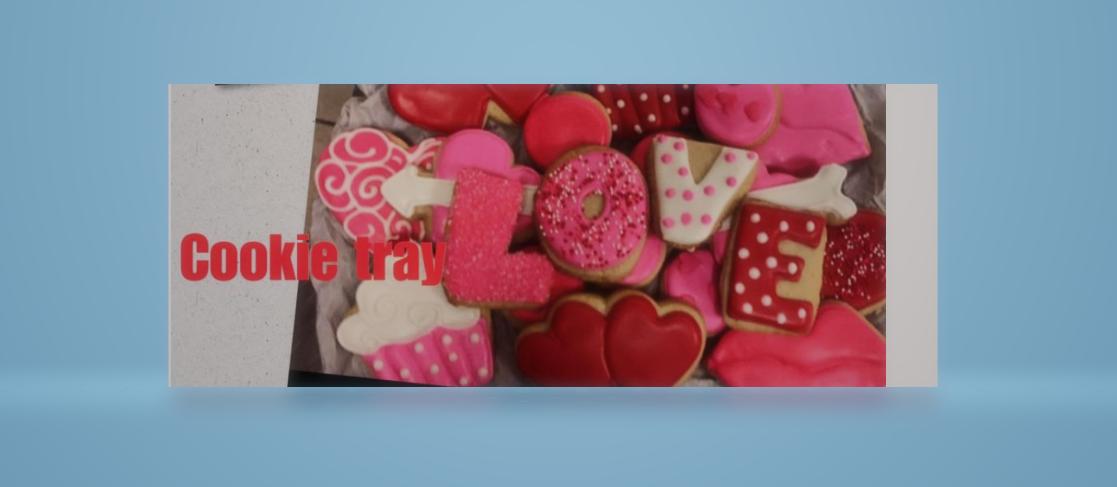 Valentines Cookie Tray (30 Cookies)